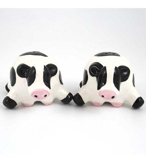 Black and White Cow Salt & Pepper Set