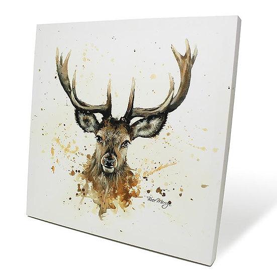 Sheridan Stag 40cm Box Canvas