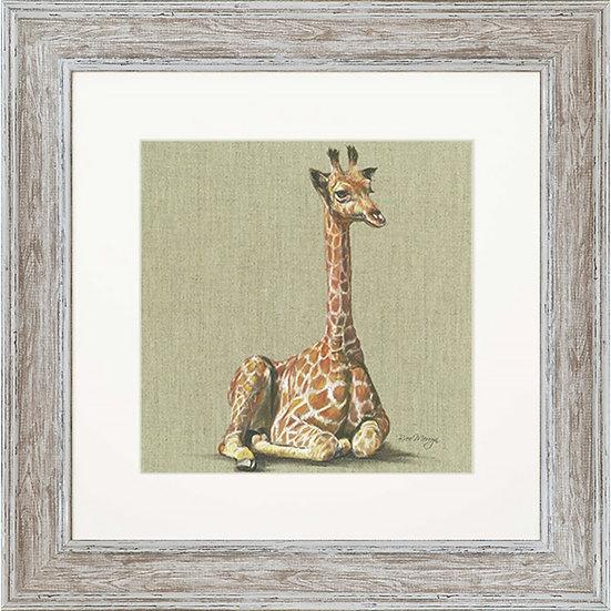 Giselle Giraffe 48cm Square Framed Print
