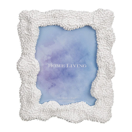 "5"" x 7"" White Resin Coral Photo Frame"