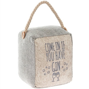 'Come In If You Have Gin' doorstop