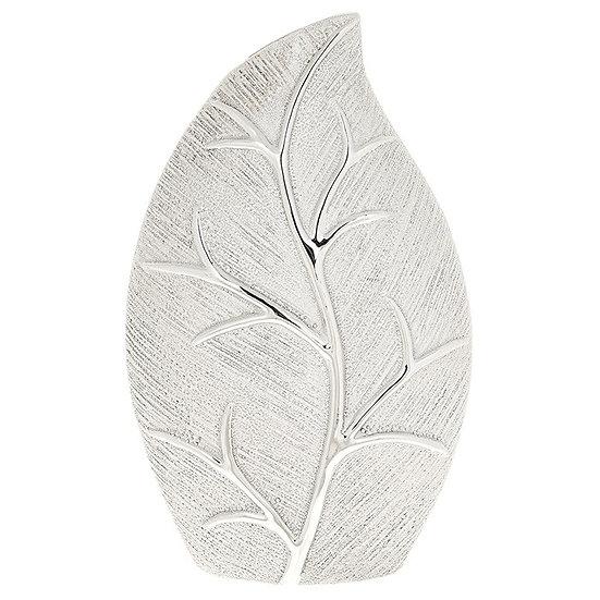 Champagne Leaf Design Wide Vase