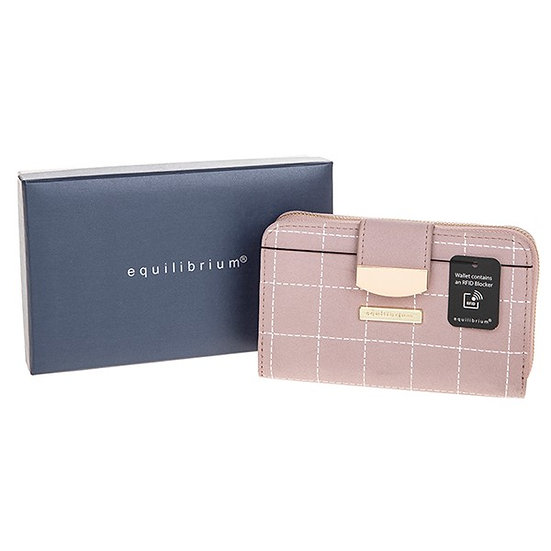 Stitched Squares Purse - Pink