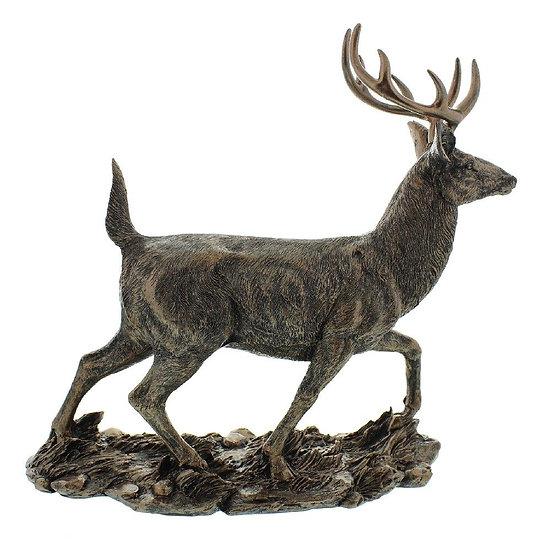Bronze Effect Stag Figurine