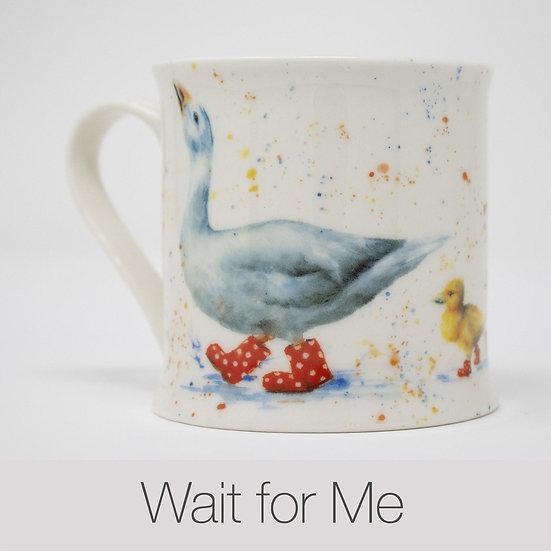 Wait For Me Ducks China Mug
