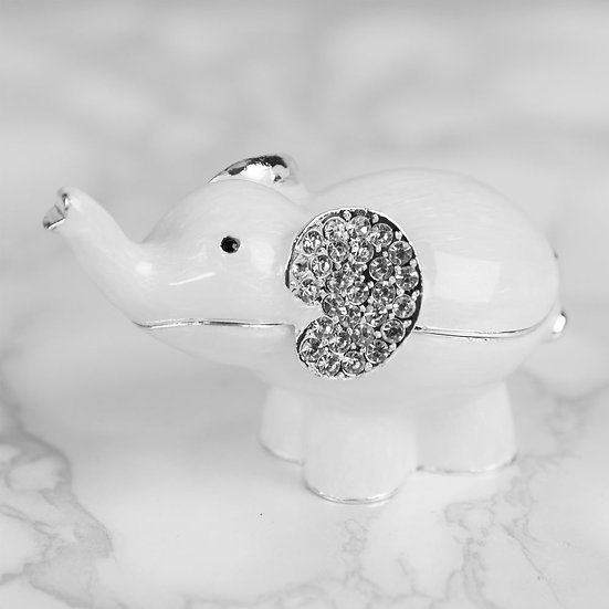 White Elephant Trinket Box