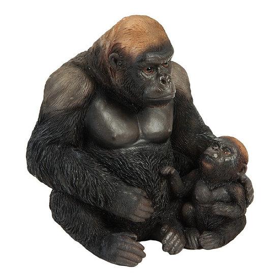 Gorilla & Baby Resin Figurine