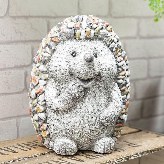 Mosaic Polystone Hedgehog Garden Ornament