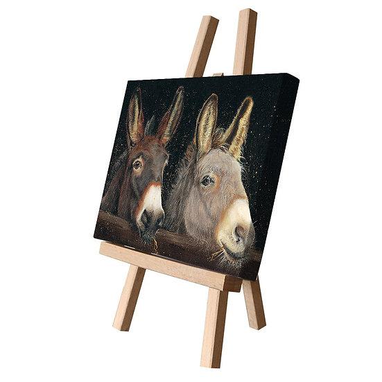Jack & Vera Donkeys Canvas Cutie