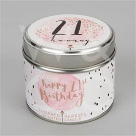 21st Birthday Tin Candle
