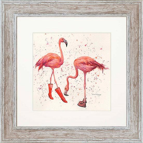 Felicity & Flora Flamingos 48cm Square Framed Print
