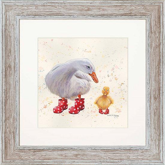 Darcey & Daffodil Ducks 48cm Square Framed Print