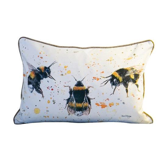 Three Bees Luxury Rectangular Cushion
