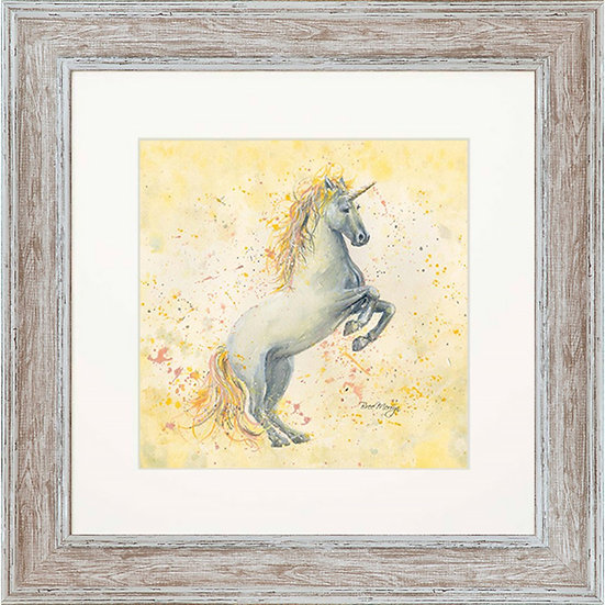 Eternia Unicorn 48cm Square Framed Print