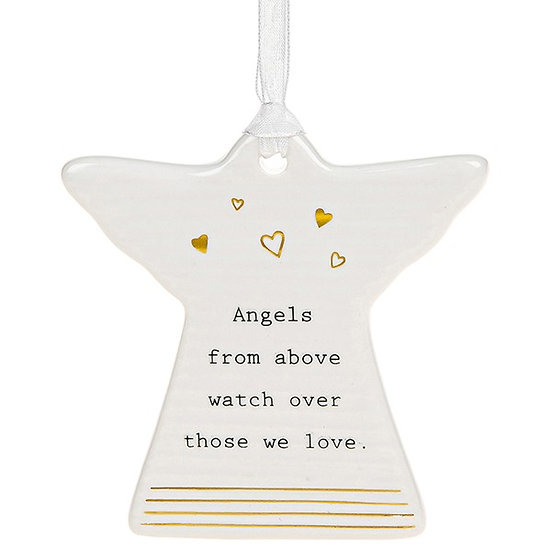 Thoughtful Words Hanging Plaque - Angels from above