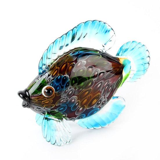 Objets d'art Glass Fish Figurine