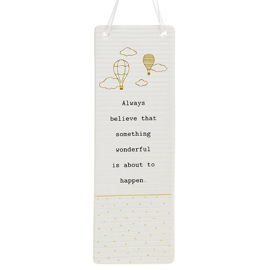 Thoughtful Words Large Hanging Plaque - Believe