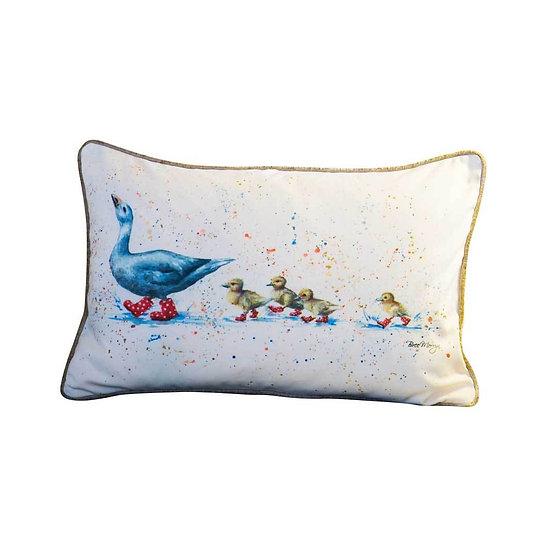 Wait For Me Ducks Luxury Rectangular Cushion