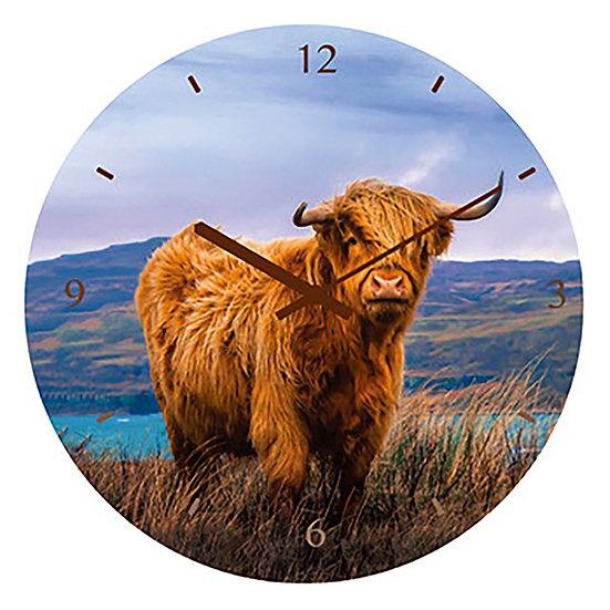 Highland Cow Wall Clock -30cm