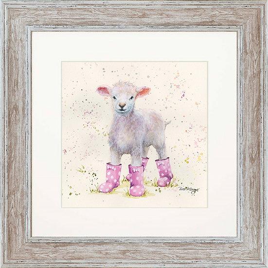 Lottie Lamb 48cm Square Framed Print