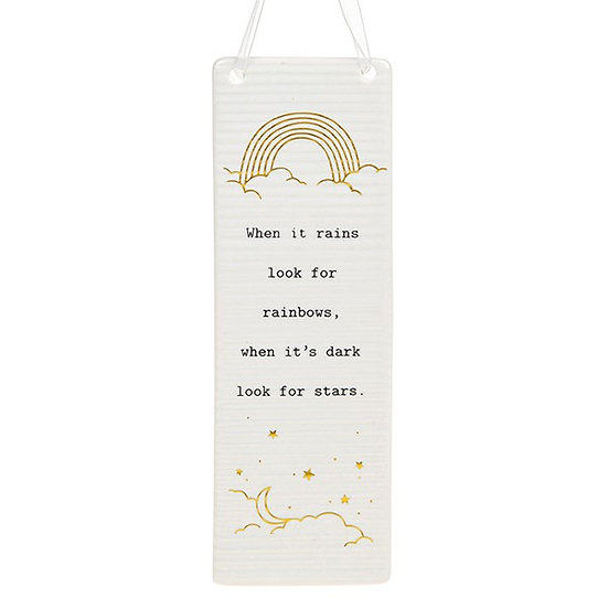 Thoughtful Words Large Hanging Plaque - Stars