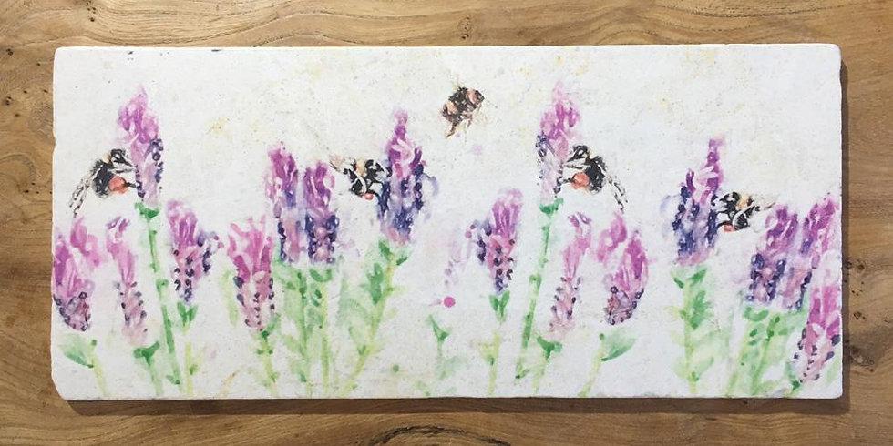 Beeing Around Lavender Marble Large Sharing Board