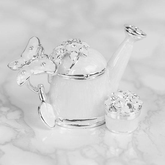 Watering Can & Flower Trinket Box
