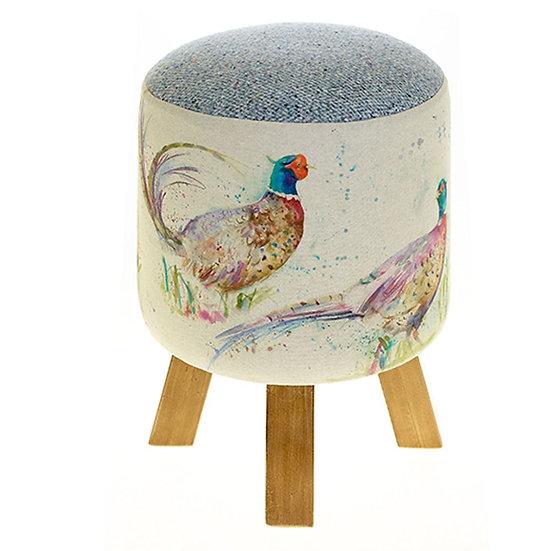 Voyage Maison Monty Footstool - Dashing Pheasants