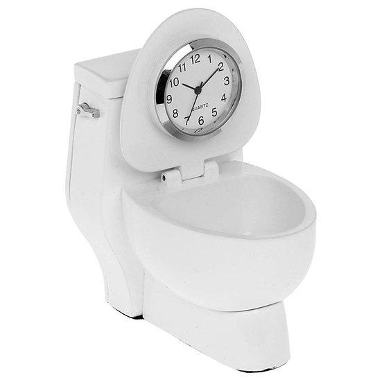 White Toilet Miniature Desk Clock