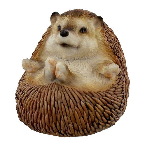 Hedgehog Chilling Figurine