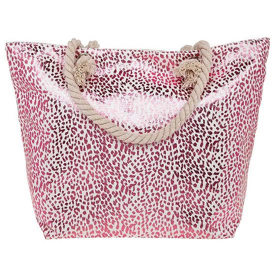 Rose Gold Animal Print Tote Bag