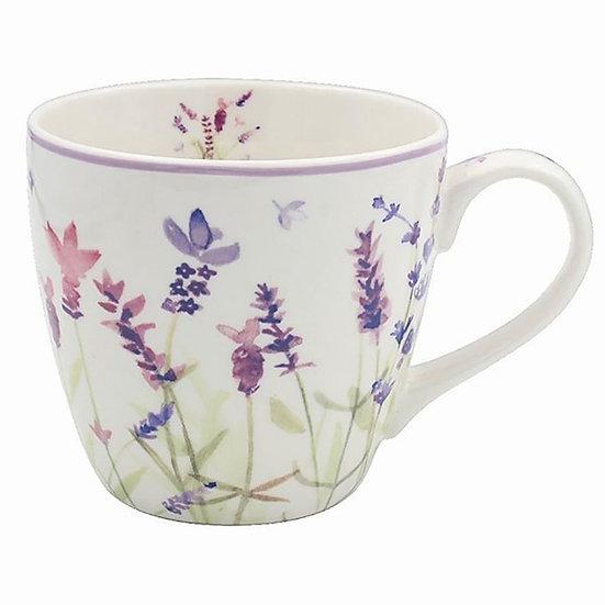 Purple Lavender Fine China Mug