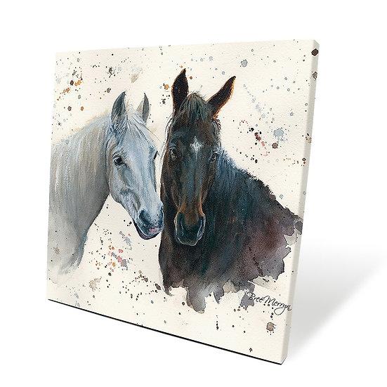 Pebbles & Paloma Horses 40cm Box Canvas