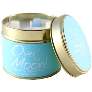 Lily Flame Over The Moon Tin Candle