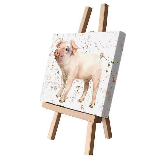Pearl Pig Canvas Cutie