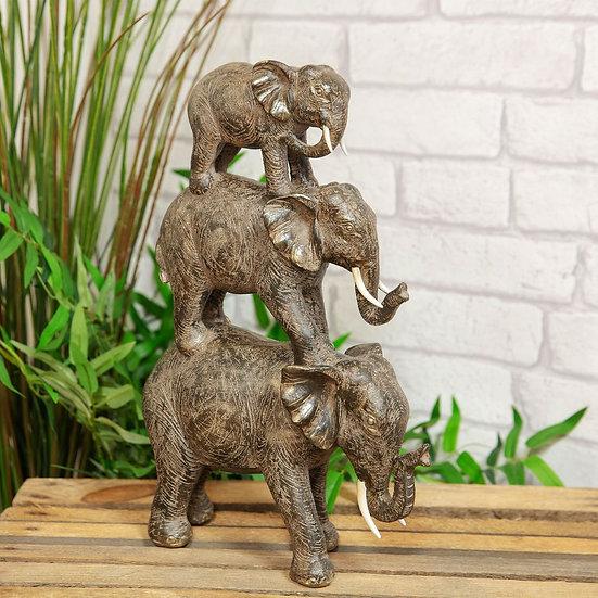 3 Elephant Tower Figurine