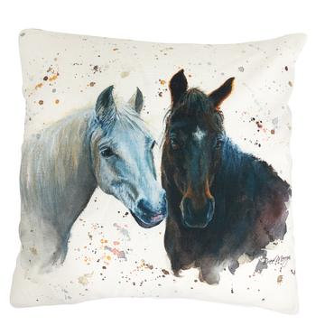 Pebbles and Paloma Horse Luxury Feather Cushion - Bree Merryn