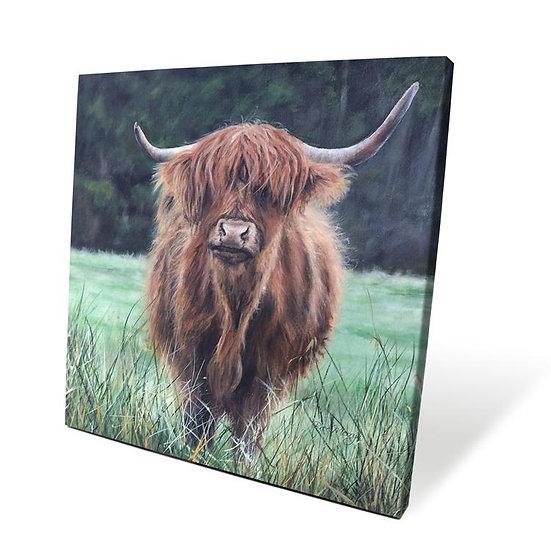 Isla Cow 40cm Box Canvas