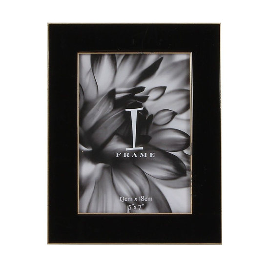 """5"""" x 7"""" iFrame Black Photo Frame with Gold Border"""