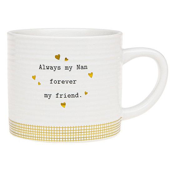Thoughtful Words Ceramic Mug - Nan