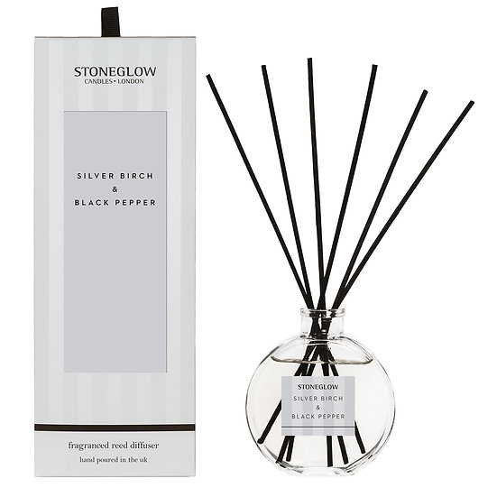 Stoneglow Silver Birch and Black Pepper Reed Diffuser