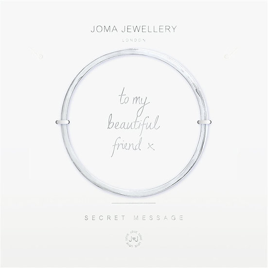 Joma Jewellery Secret Message Bangle - To My Beautiful Friend