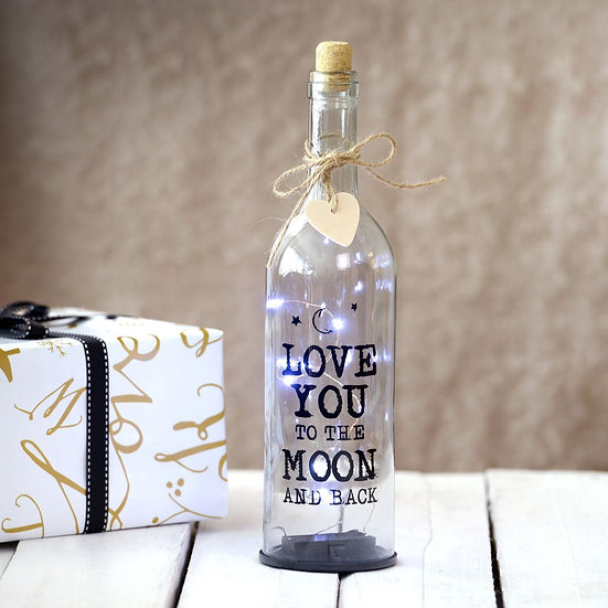 LED 'Love You To The Moon' light up Bottle
