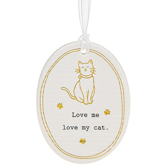 Thoughtful Words Hanging Plaque - Cat