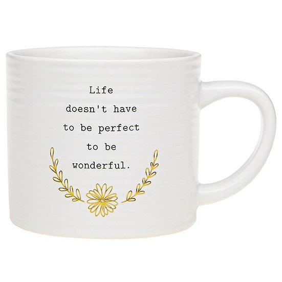 Thoughtful Words Ceramic Mug - Life
