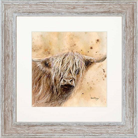 Archibald Cow 48cm Square Framed Print