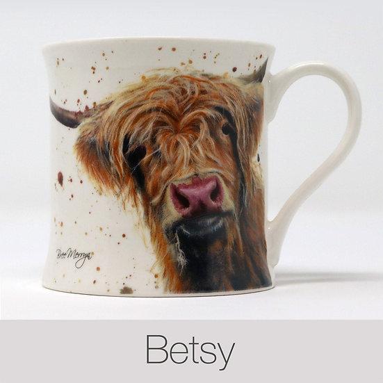 Betsy Cow China Mug