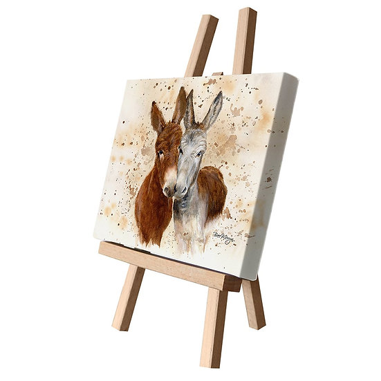 Jack & Diane Donkeys Canvas Cutie