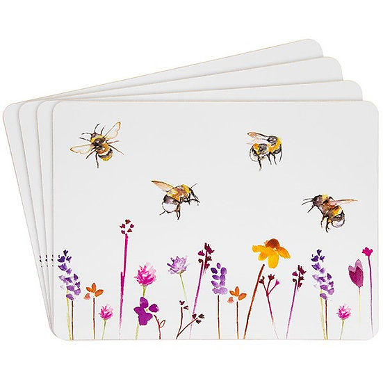 Set of 4 Busy Bee placemats