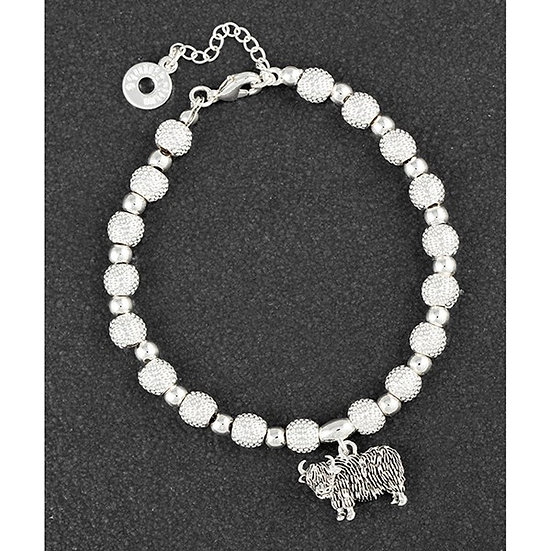 Silver Plated Highland Cow Bracelet